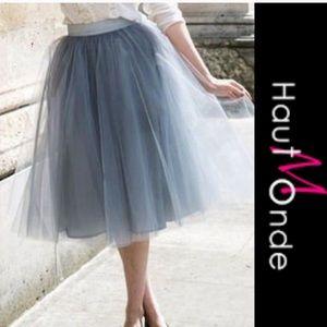 Haute monde dusty blue tulle skirt